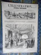 L' ILLUSTRATION 09/11/1861 ROI PRUSSE BERLIN POLOGNE VARSOVIE CHINE SHANGHAI YANG TSE KIANG PAGODE MARSEILLE REGATE - Periódicos
