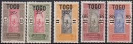 Du N° 119 Au N° 123 - X X - ( C 1092 ) - Togo (1914-1960)