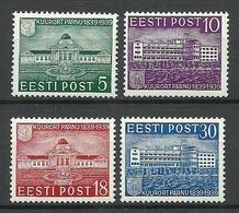 Estonia Estland 1939 Michel 148 - 151 * - Estland