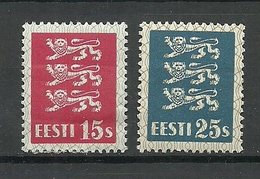 ESTLAND ESTONIA 1935 Michel 106 - 107 * - Estland