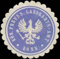 Bonn: K.Pr. Landrahts-Amt Bonn Siegelmarke - Cinderellas
