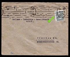 A6011) DR Infla Brief Berlin 03.11.23 N. Dresden EF Mi.322A Korbdeckelsprung - Deutschland