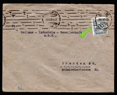 A6011) DR Infla Brief Berlin 03.11.23 N. Dresden EF Mi.322A Korbdeckelsprung - Briefe U. Dokumente
