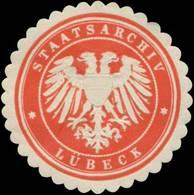 Lübeck: Staatsarchiv Lübeck Siegelmarke - Cinderellas