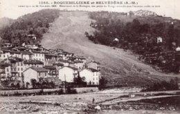 ROQUEBILLIERE ET BELVEDERE EBOULEMENT DE LA MONTAGNE UNE PARTIE DU VILLAGE ENSEVELIE 1931 TBE - Roquebilliere