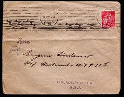 A6012) DR Infla Brief 20.02.22 N. USA M. EF Mi.166 - Briefe U. Dokumente