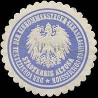 Altona: Der Vorsitzende Der Einkommensteuer-Veranlagungs-Commission Stadtkreis Altona Siegelmarke - Cinderellas