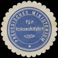Berlin: Pr. Ministerium Für Volkswohlfahrt Siegelmarke - Cinderellas