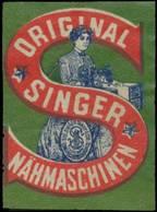 New York/USA: Original Singer Nähmaschinen Reklamemarke - Cinderellas