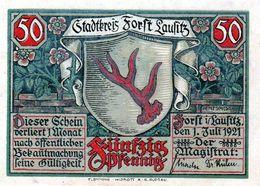 Billet De Nécessité Allemand De 50 Pfennig 1921 - 1918-1933: Weimarer Republik
