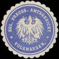 Volkmarsen: K.Pr. Amtsgericht Volkmarsen Siegelmarke - Erinnophilie