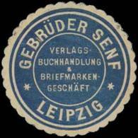 Leipzig: Gebrüder Senf Briefmarken Siegelmarke - Vignetten (Erinnophilie)