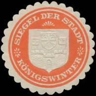 Königswinter: Siegel Der Stadt Königswinter Siegelmarke - Erinnophilie