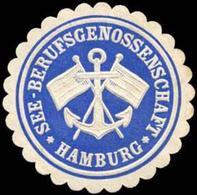 Hamburg: See- Berufsgenossenschaft Hamburg Siegelmarke - Cinderellas