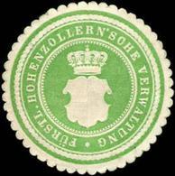 Sigmaringen: Fürstlich Hohenzollernsche Verwaltung Siegelmarke - Cinderellas