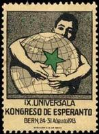 Bern: IX. Universala Kongresco De Esperanto Reklamemarke - Vignetten (Erinnophilie)