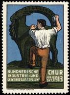 Chur: Bündnerische Industrie - Und Gewerbeausstellung Reklamemarke - Vignetten (Erinnophilie)