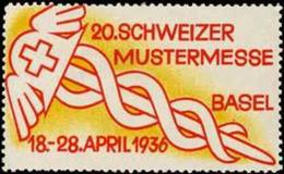 Basel/Schweiz: 20. Schweizer Mustermesse Reklamemarke - Vignetten (Erinnophilie)