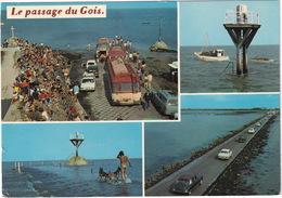 Passage Du Gois: CITROËN DS, OPEL KADETT B, PEUGEOT 404 BREAK, RENAULT 12, 16, AUTOBUSES - Ile De Noirmoutier - Voitures De Tourisme
