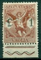 V9946 ITALIA REGNO 1924 Segnatasse Vaglia 1 L. Bordo Di Foglio, MH*, Sass. 4, Valut. Sassone: € 55,00, Buone Condizioni - 1900-44 Vittorio Emanuele III