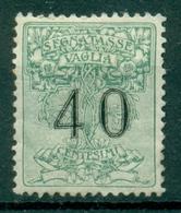 V9944 ITALIA REGNO 1924 Segnatasse Vaglia 40 C. MH*, Sass. 2, Valut. Sassone: € 55,00, Buone Condizioni - 1900-44 Vittorio Emanuele III