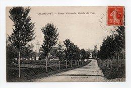 - CPA CHAMPLOST (89) - Route Nationale 1920 - Entrée Du Pays - Edition Gallimard - - France