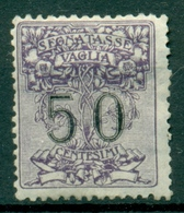 V9945 ITALIA REGNO 1924 Segnatasse Vaglia 50 C. MH*, Sass. 3, Valut. Sassone: € 55,00, Buone Condizioni - 1900-44 Vittorio Emanuele III