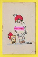 ENFANTS - LITTLE GIRL - MAEDCHEN - CHIEN - DOG - Jolie Carte Portrait Fillette & Chien Signée MARCEL AVITABILE - Dessins D'enfants