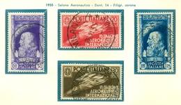 V9712 ITALIA REGNO 1935 Salone Aeronautico, Usati, Serie Completa, Valutazione Sass. € 20, Buone Condizioni - Used