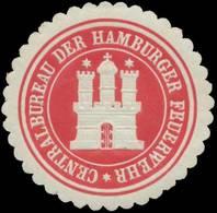 Hamburg: Centralbureau Der Hamburger Feuerwehr Siegelmarke - Cinderellas