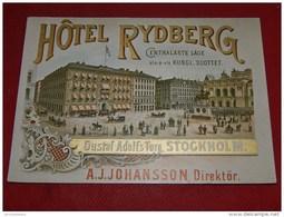 SUEDE - STOCKHOLM  -  Hôtel  Rydberg - Suède
