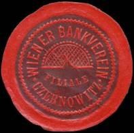 Czernowitz: Wiener Bankverein Filiale Czernowitz Reklamemarke - Erinnofilie