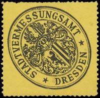 Dresden: Stadtvermessungsamt - Vermessung Siegelmarke - Cinderellas