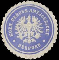 Herford: K. Pr. Amtsgericht Herford Siegelmarke - Cinderellas