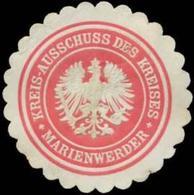 Marienwerder: Kreisausschuss Des Kreises Marienwerder/Westpreußen Siegelmarke - Erinnofilie