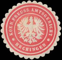 Hechingen: K.Pr. Amtsgericht Hechingen Siegelmarke - Erinofilia