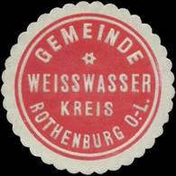Weißwasser: Gemeinde Weisswasser Kreis Rothenburg Ober-Lausitz Siegelmarke - Cinderellas