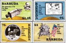 Ref. 163770 * NEW *  - BARBUDA . 1980. 10th ANNIVERSARY OF FIRST MANNED MOON LANDING. 10 ANIVERSARIO DEL PRIMER ALUNIZAJ - Antigua And Barbuda (1981-...)