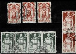 Bande De 4 Du TP N° 269, De 3 Du 289 Et 3 Ex Du 271 - Indochina (1889-1945)