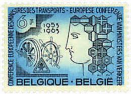 Ref. 84202 * NEW *  - BELGIUM . 1963. 10th ANNIVERSARY OF EUROPEAN CONFERENCE OF TRANSPORT MINISTERS . 10 ANIVERSARIO DE - Belgien
