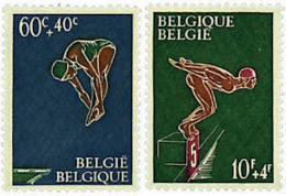 Ref. 84235 * NEW *  - BELGIUM . 1966. SURTAX FOR SPORTS. SWIMMING. PRO OBRAS DEPORTIVAS. NATACION - Bélgica