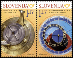 SLOVENIA SLOWENIEN 2019 SUNDIAL ASTRONOMICAL CLOCK ASTRONOMISCHE UHR ** JOINT ISSUES** SET ** MNH - Astronomy