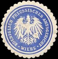 Wiehe: K.Pr. Amtsgericht - Wiehe Siegelmarke - Cinderellas