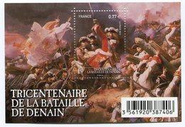 RC 12104 FRANCE BF N° F4660 TRICENTENAIRE DE LA BATAILLE DE DENAIN BLOC FEUILLET NEUF ** A LA FACIALE - Blocs & Feuillets