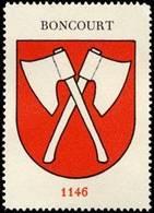 Bremen: Boncourt - Bubendorf Reklamemarke - Erinnophilie