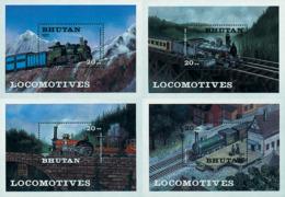 Ref. 57408 * NEW *  - BHUTAN . 1984. LOCOMOTIVES. LOCOMOTORAS - Bhután