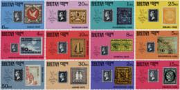 Ref. 57416 * NEW *  - BHUTAN . 1990. 150th ANNIVERSARY OF THE STAMP. LONDON 90. PHILATELIC EXHIBITION. 150 ANIVERSARIO D - Bhutan