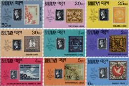 Ref. 592268 * NEW *  - BHUTAN . 1990. 150th ANNIVERSARY OF THE STAMP. LONDON 90. PHILATELIC EXHIBITION. 150 ANIVERSARIO - Bhután
