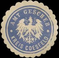Gescher: Amt Gescher Kreis Coesfeld Siegelmarke - Erinnophilie