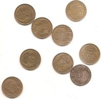 9 Pieces De 2 Francs MORLON BRONZ ALU  Voir Detail En Dessous - France